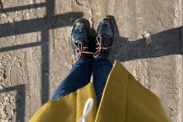 Ботинки Ларисы Бузуновой после недавней прогулки по Екатеринбургу