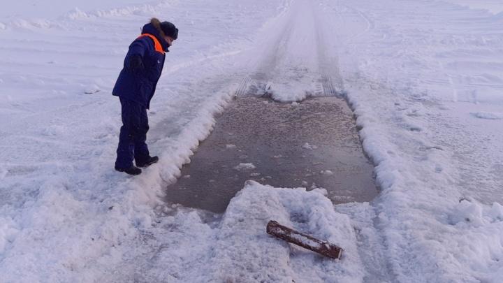 В Курганской области МЧС нашло две незаконные переправы через лёд