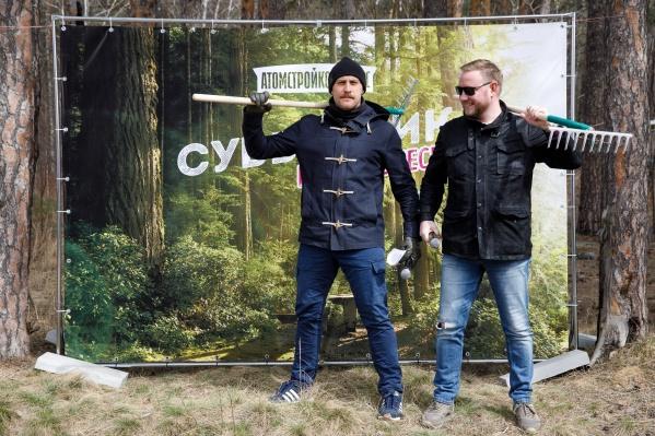 Вели субботник Александр Морозов иВлад Чемезов