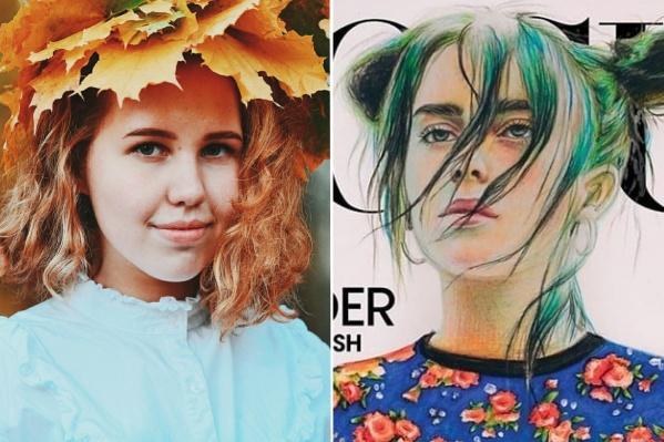 Слева сама Анастасия Ковтун, справа Билли Айлиш на обложке журнала