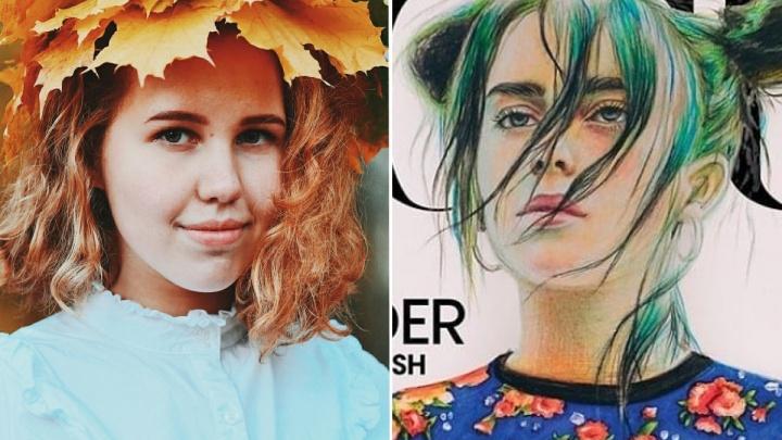 «Она сама меня посоветовала». Как школьница из Чайковского стала автором обложки Vogue с Билли Айлиш