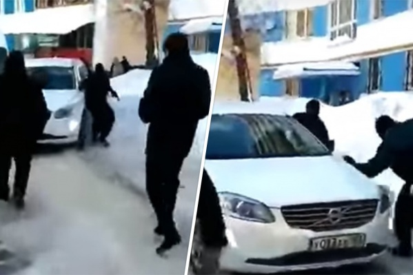 Происшествие случилось во время задержания в одном из дворов на Московском шоссе