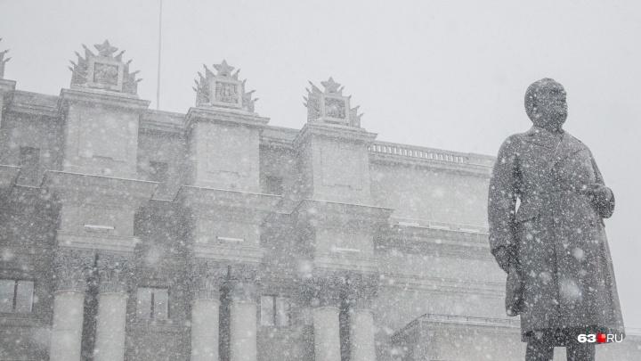 В выходные в Самарской области ожидают мокрый снег