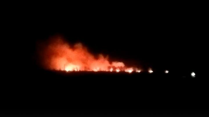 На Северном объезде разгорелся пожар