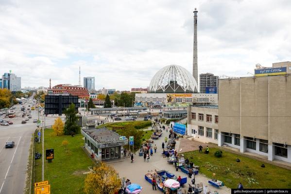 Телебашню было видно с разных точек города