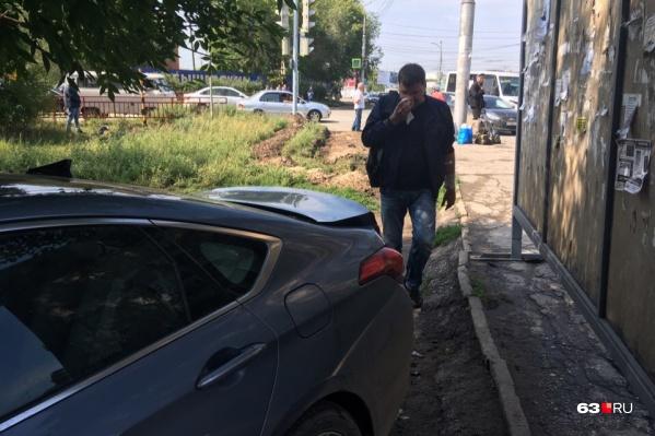 Водитель отказался от госпитализации