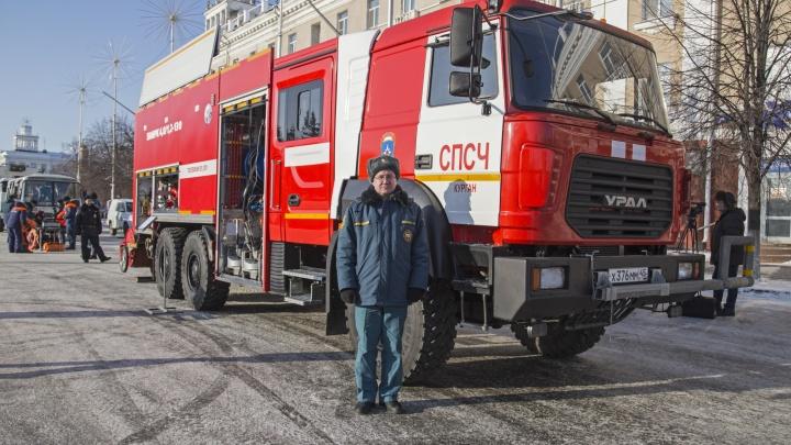 В стране таких машин только шесть: в Зауралье тушить пожары будет уникальный автомобиль