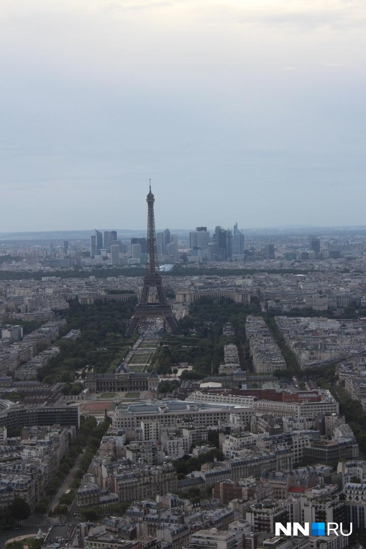 Потрясающая панорама Парижа<br>
