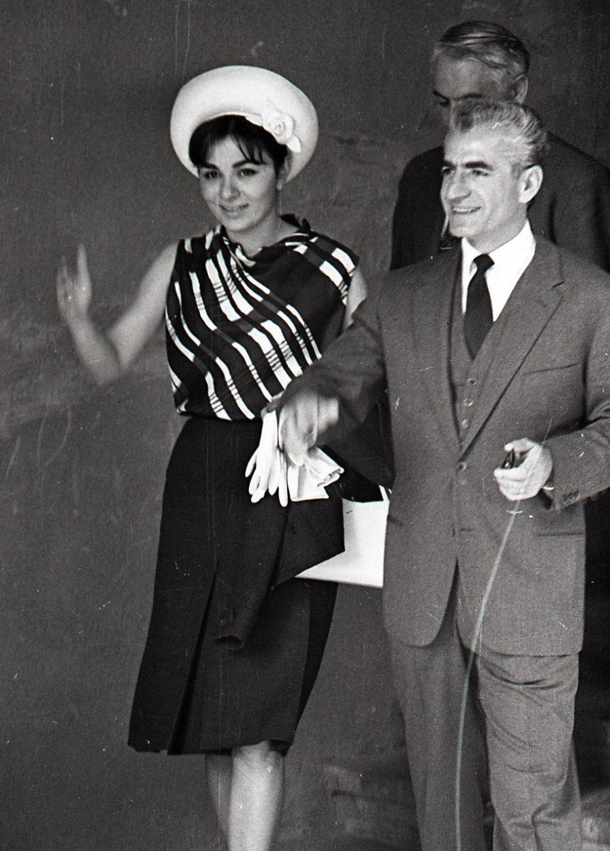 Иранский шах и его красавица жена