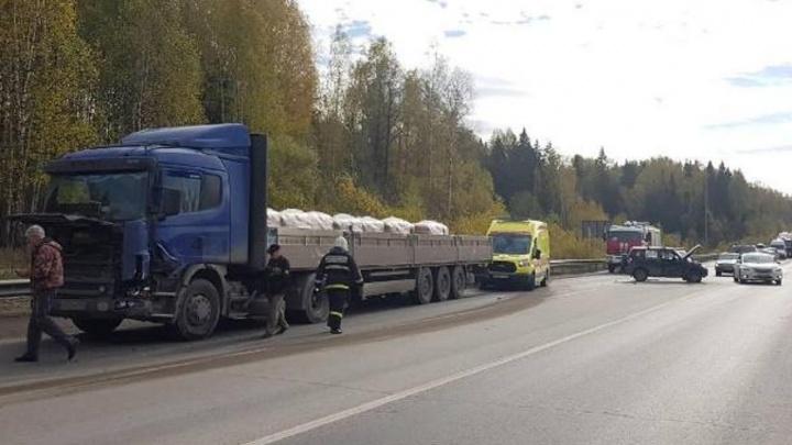 В Перми два человека пострадали в аварии на Восточном обходе