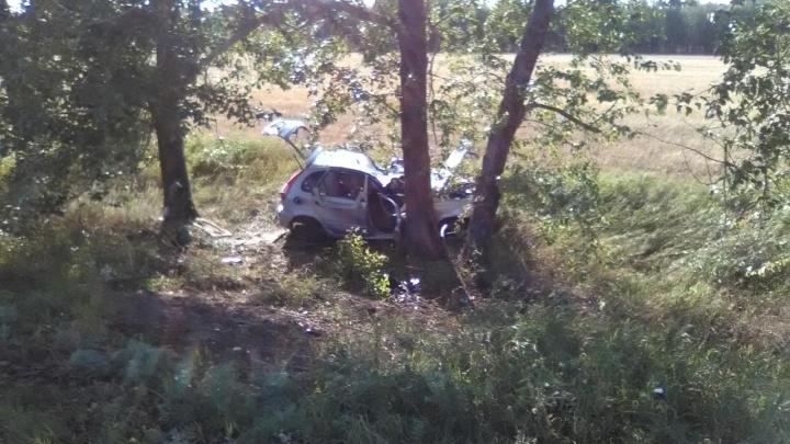 На трассе в Башкирии — смертельное ДТП: «Лада-Калина» слетела с дороги в дерево