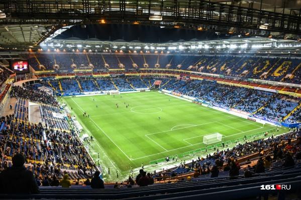 Стадион «Ростов Арена» вмещает 43 тысячи болельщиков