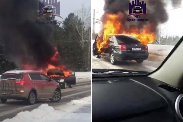 Возгорание произошло прямо около Железногорска