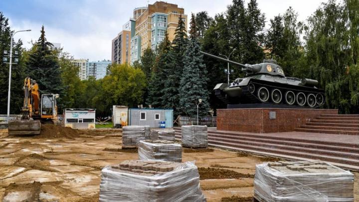 Восстановят фонтаны, заменят фонари: в Перми начали ремонт бульвара на улице Сибирской