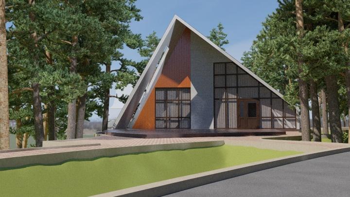 Возле санатория «Ельцовка»на берегу Оби начали строить базу отдыха