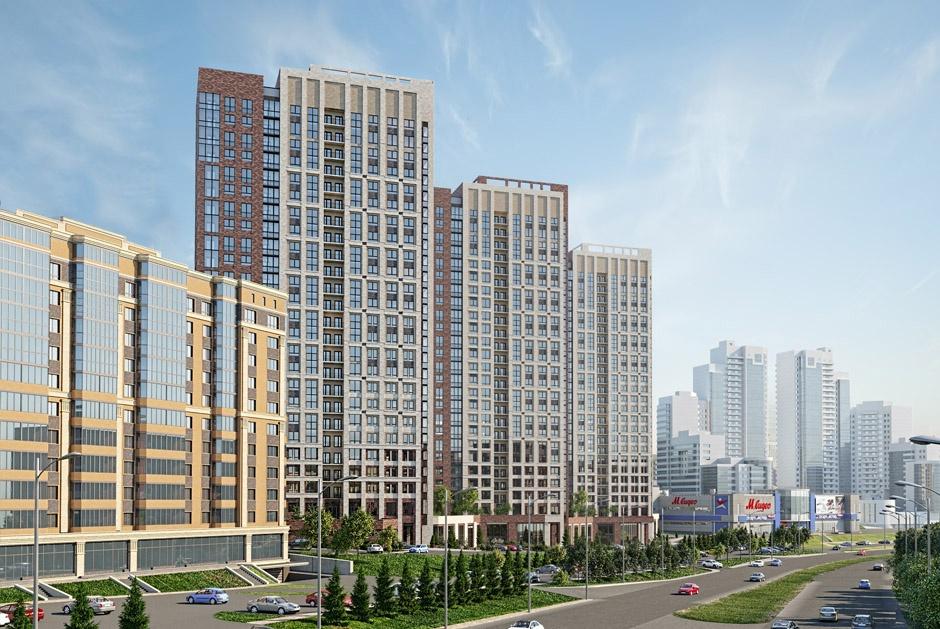В комплексе будет 5 домов, а 3 из них должны выходить фасадами непосредственно на магистраль