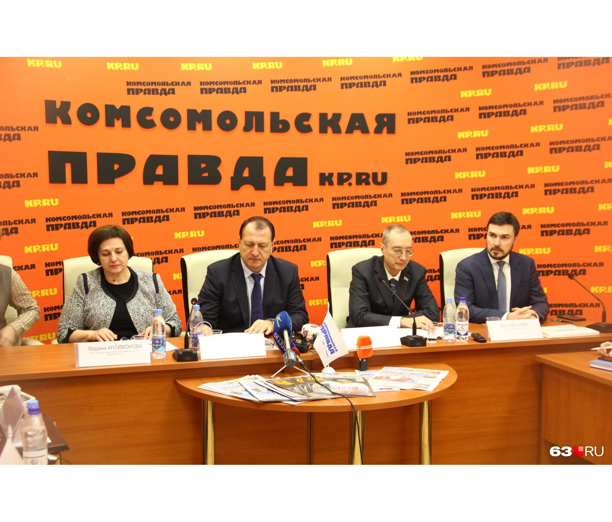 Слева направо: Марина Антимонова, Сергей Марков, Андрей Кислов, Иван Аветисян