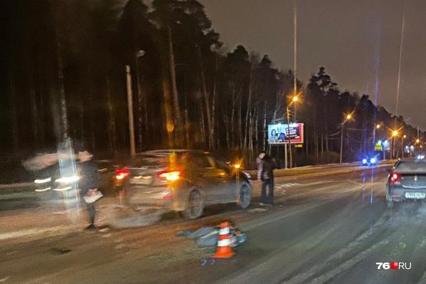 Пешеход получил травмы