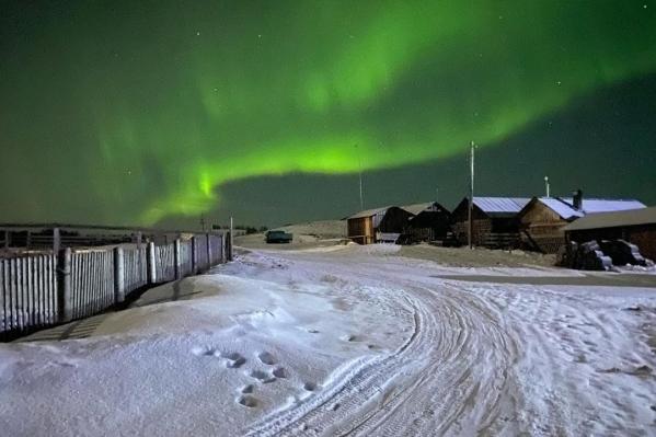 Такую красоту северяне наблюдали в Лопшеньге в новогодние каникулы<br>
