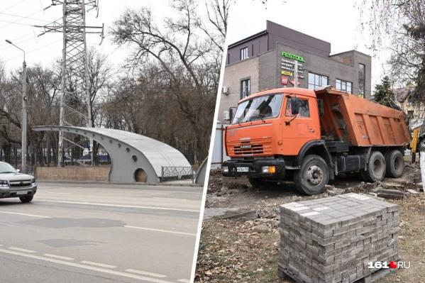 Новый переход (слева) появился в 2015 году как альтернатива светофору