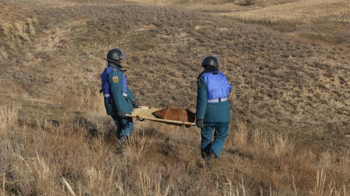 Пиротехники МЧС обезвредили в Волгограде авиабомбы — видео