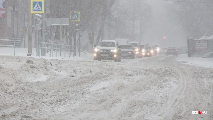 Опять заметет все дороги? В Самарской области пройдет снегопад с сильными порывами ветра