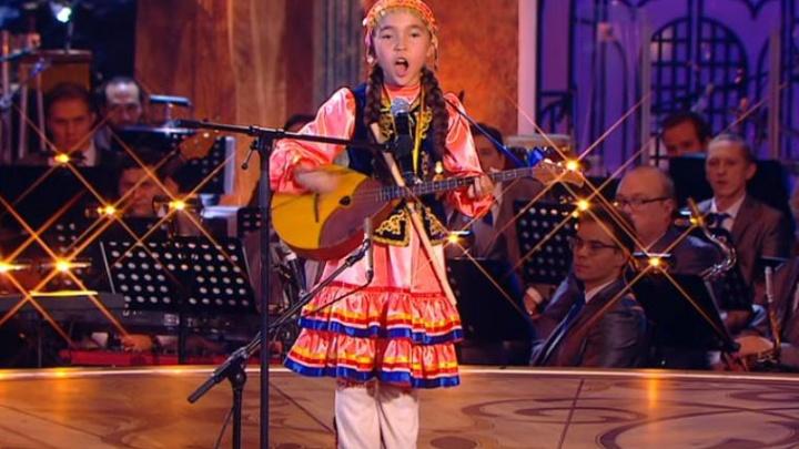 Девочка-оркестр из Башкирии выступила на всероссийском конкурсе талантов