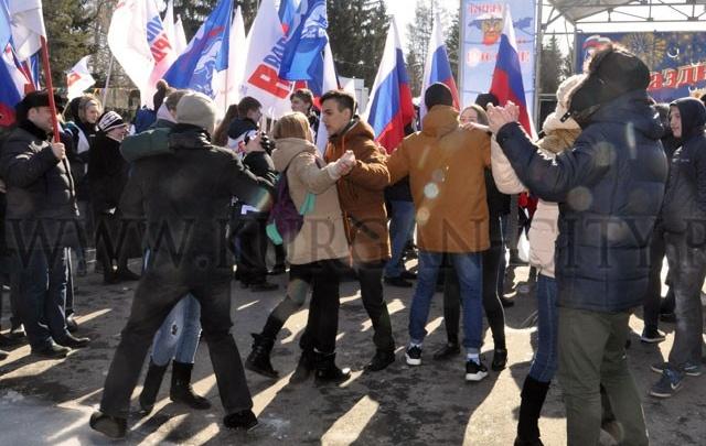 Курганцы отметили третью годовщину воссоединения Крыма с Россией