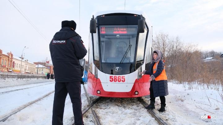 Полиция запретила эксплуатацию трамвая «Лев». Он снова вышел на линию с неработающими габаритами