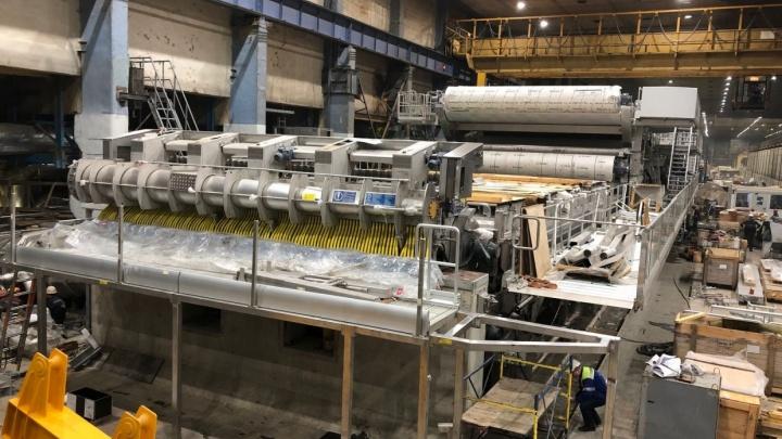 На производстве картона АЦБК состоялся технический запуск новой картоноделательной машины