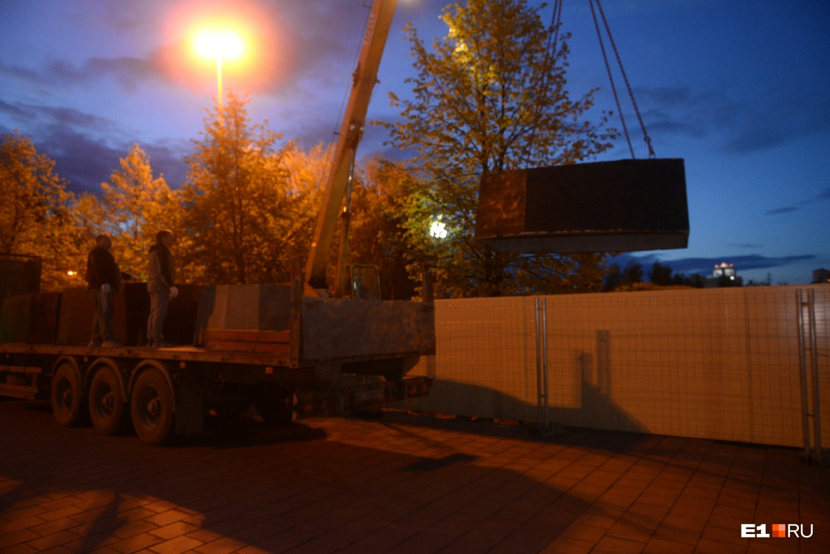 Бетонные блоки со стройплощадки тоже увезли