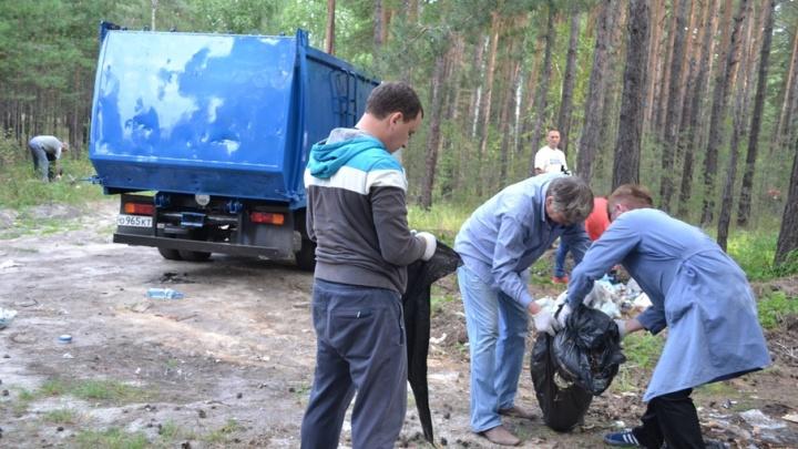 За май с несанкционированных свалок Кургана вывезено  64 тонны мусора
