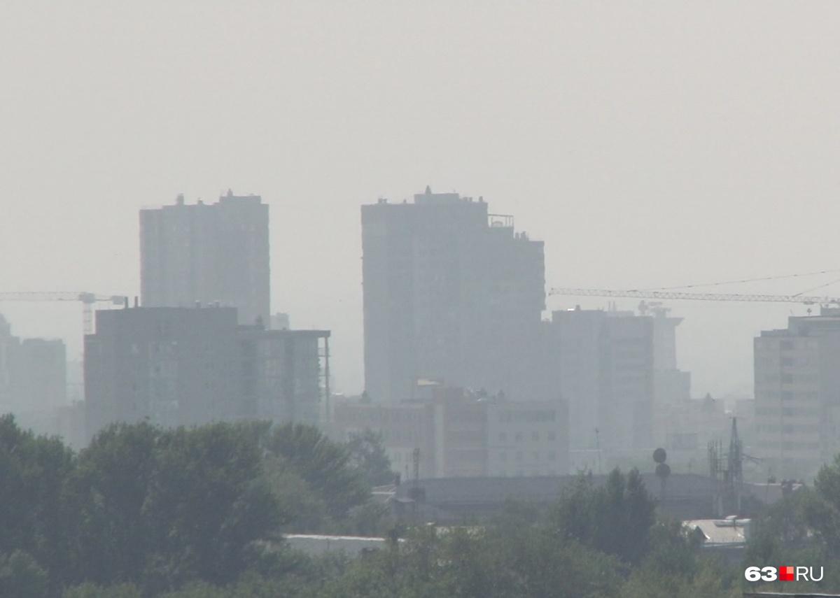 Воздух загрязнен в двух городах области