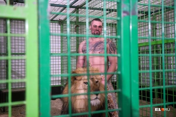В клетку к диким животным мы заходить не стали — все-таки хотелось вернуться в редакцию с полным комплектом конечностей. А дрессировщику львы не страшны
