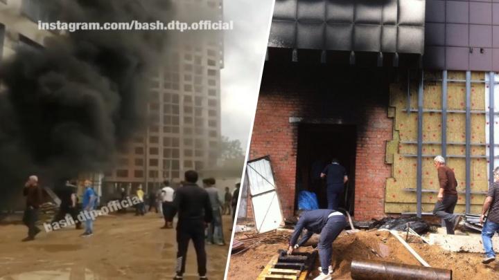 В Уфе горожан испугал густой черный дым, очевидцы сняли видео
