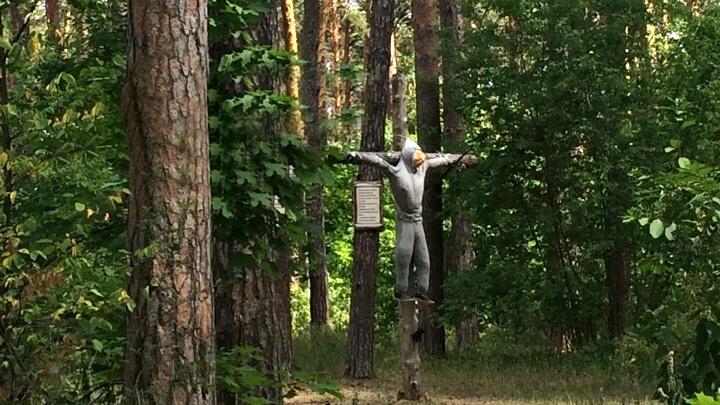 «Распяли на кресте»: жители Тольятти наткнулись на необычную находку в лесу