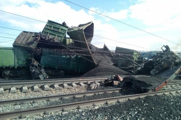 Авария произошла в районе станции Евсино