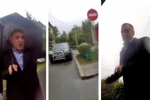 В сети появился ролик, на который попали чиновники, нарушающие правила дорожного движения