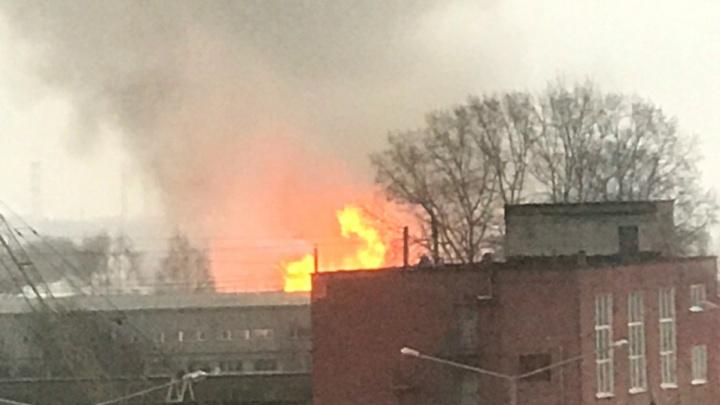 Пламя выше домов: крупный пожар в Ярославле. Что горит