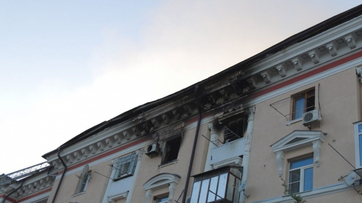 На ремонт сгоревшего в центре Ростова во время ЧМ дома выделили 7,5 миллиона рублей