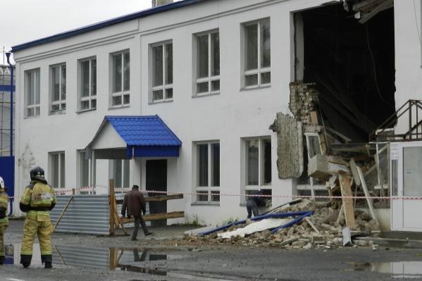 Обрушение стены производственного здания произошло в этот четверг, 12 сентября<br><br>