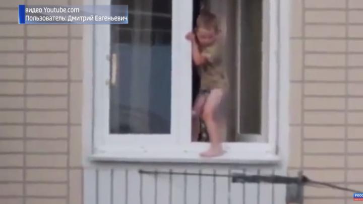В Уфе с начала года из окон домов выпали 16 детей