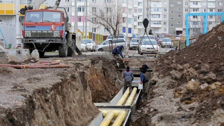 При прокладке сетей рабочие повредили трубу: в 41 доме Октябрьского района проблемы с отоплением