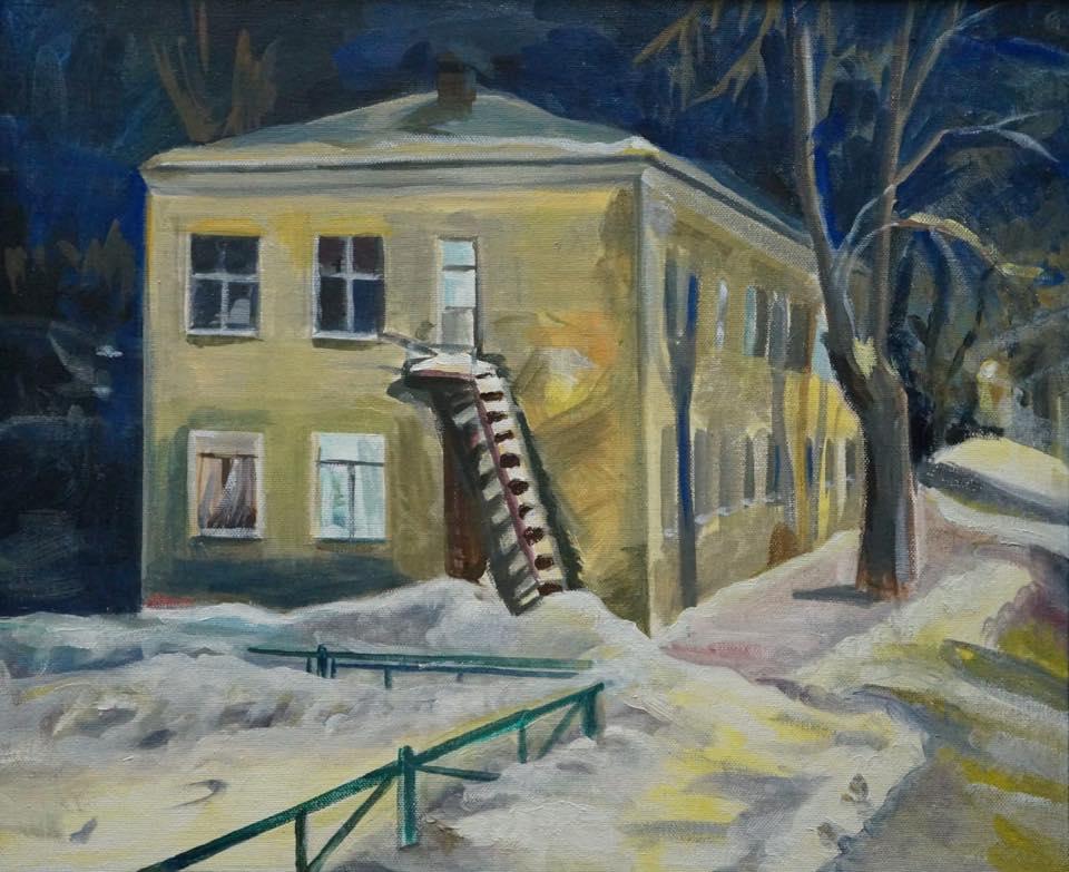 Разрушенная башня и дом Бориса Рыжего: в Екатеринбурге откроется выставка ностальгических картин