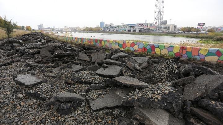 Будем гулять и нюхать цветы: в Челябинске начали ремонт набережной Миасса