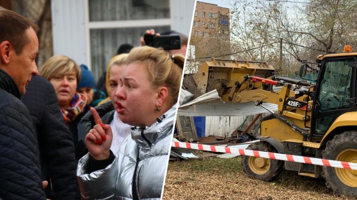 Потасовка, шокер и угрозы: репортаж со сноса рынка на Авроры — Аэродромной в Самаре