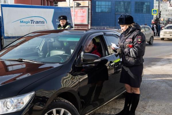 Водителям подарили безалкогольные напитки и попросили не пить за рулём