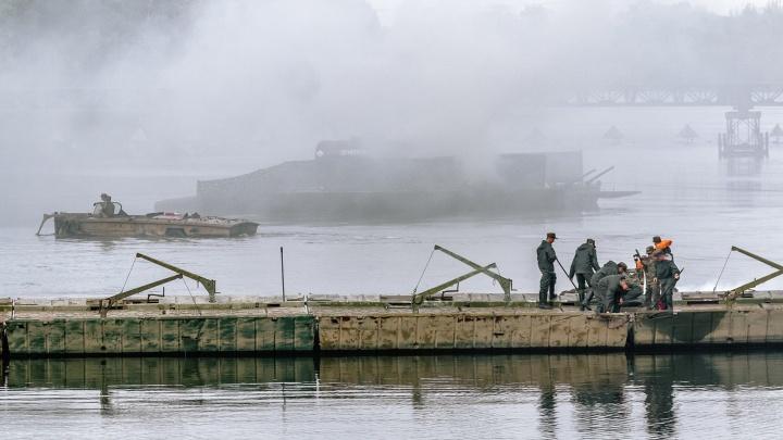 Под Самарой военные восстановили мосты взамен условно взорванных