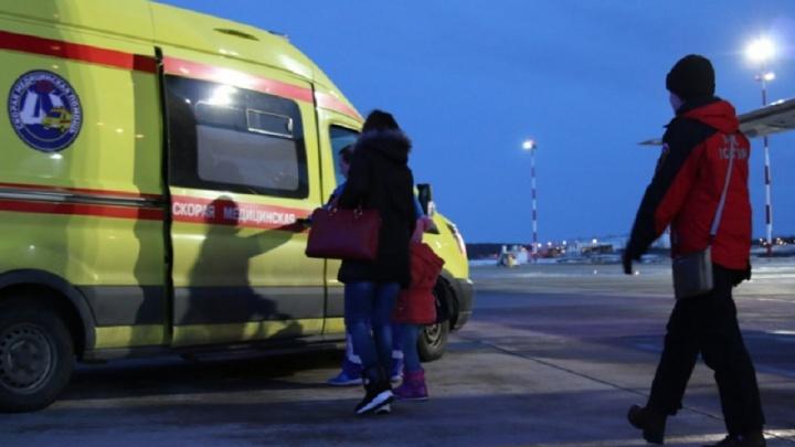Спецборт МЧС доставил 11 тяжелобольных детей из Ростова в столицы