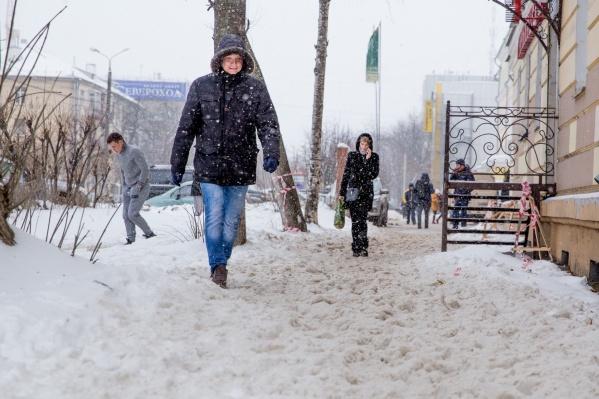 На Ярославль обрушился снегопад